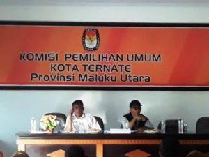 KPU Kota Ternate Gelar Rapat Koordinasi Penertiban APK
