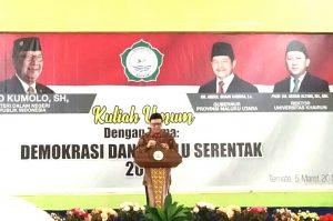 Kuliah Tamu Mendagri Tjahjo Kumolo, di FKIP Unkhair Ternate