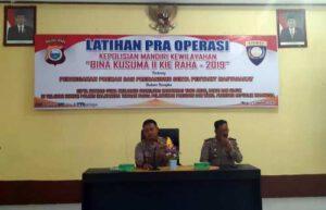 Antisipasi Pekat dan Dampak Sosial, Polres Halteng Gelar Pra Operasi Bina Kusuma Kie Raha II 2019